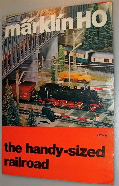 the handy-sized railroad Neuheiten Werbefaltblatt Märklin 1976 E