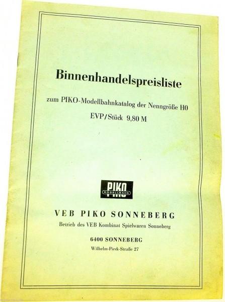 Binnenhandelspreisliste zum Piko H0 Katalog å