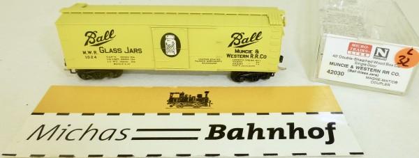 MICRO TRAINS 42030 MWR Ball Glas Jars 1024 40' Sheathed Wood Boxcar N 1:160 OVP #32L å