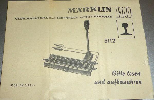 Anleitung Märklin 5112 68 504 LN 0172 ru å