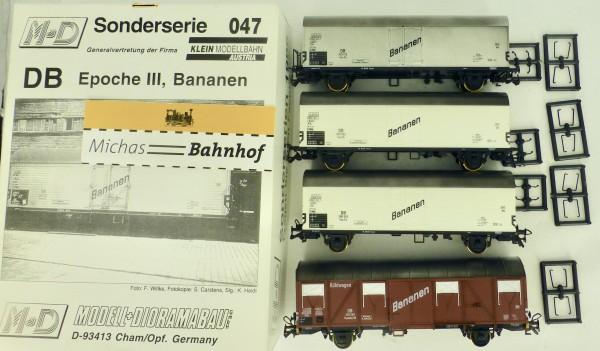3 tlg Bananen Sonderserie DB EpIII M+D 047 H0 1:87 OVP KC3 å *