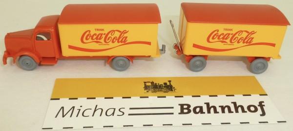 Coca Cola Mercedes 5000 Hängerzug IMU Replica Serie H0 1:87 #35# å*