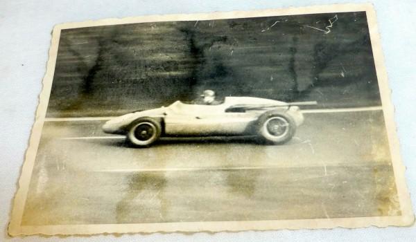 Burges England Cooper Maserati AVUSRENNEN (2.8.1959?) tolles Foto #LI4 å *