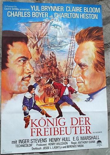 König der Freibeuter Brynner Charlton Heston Filmplakat
