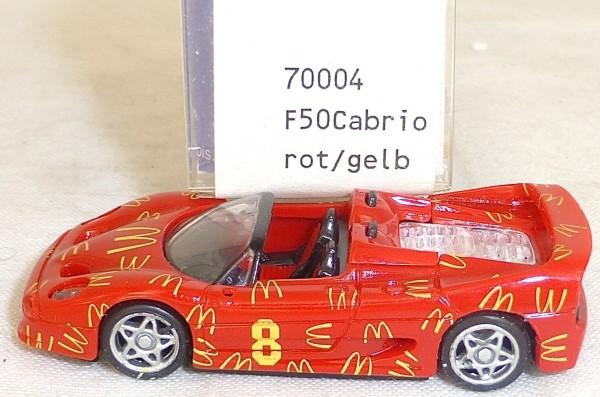 F50 Ferrari Cabrio Mc Donalds rot gelb IMU EUROMODELL 70004 H0 1:87 OVP #LL1 å *
