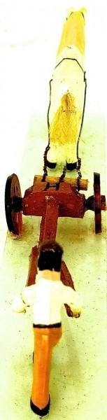 Bauer mit Pferd Pflug Preiser 473 Holz 50er Jahre H0 1:87 PRH7 å *