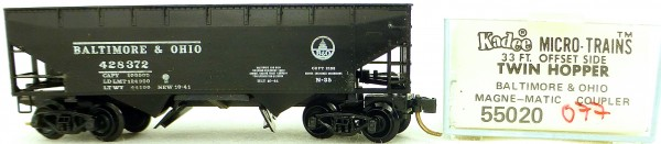 Micro Trains Line 55020 Baltimore Ohio 428372 33' Twin Hopper OVP 1:160 #K077 å