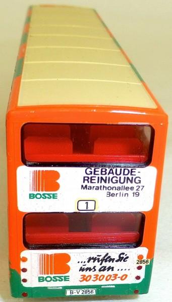 BOSSE Gebäude Reinigung Werbebus MAN SD 200 gesupert aus WIKING Bus 1:87 BBC1 å*