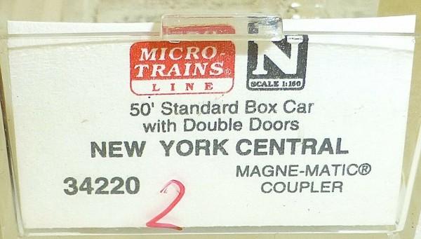 Micro-Trains Line 34220 (2) New York Central 50' Standard Box Car N 1:160 A å *