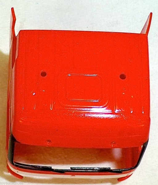 10 x LKW Fahrerhaus Mercedes 1843 rot Ladegut Bastel Deco 1:87 H0 å