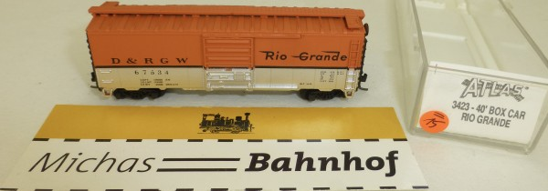D&RGW Rio Grande 67534 40' Box Car Atlas 3423 N 1:160 #=15 å