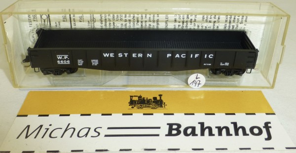 MICRO TRAINS 46050 Western Pacific 6606 50' Gondola drop ends N 1:160 #147L.å