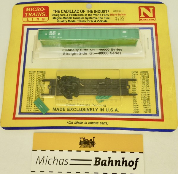 BLISTER KIT PC 365610 Fishbelly Side Kit Micro Trains 46069 OVP 1:160 å