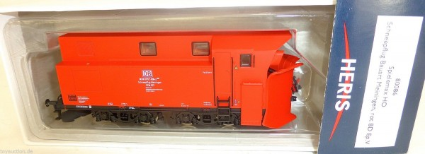 Schneepflug Bauart Meiningen rot DB Ep5 Heris 80086 H0 1:87 OVP HC3 å *