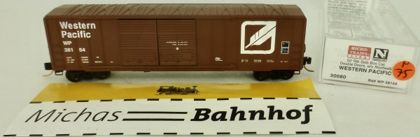 Western Pacific 38154 50' Rib Side Box Car Micro Trains Line 30080 1:160 P75 å