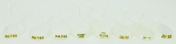 8 x FALLER Sockel f Flugzeug Modell 1:100 Plastik Me262 Fi156 Ju87 He111 Ju52 etc å