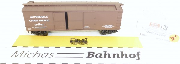 MICRO TRAINS 41010 U.P. 170774 40' Outside Bradced Boxcar 1 1/2 N 1:160 OVP #14L å