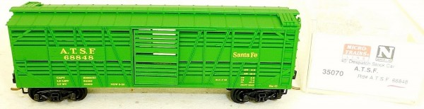Micro-Trains Line 35070 A.T.S.F. 68848 40' Despatch Stock Car N 1:160 A å *