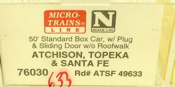 Micro Trains Line 76030 ATSF 49633 50´ Box Car 1:160 OVP #E å *