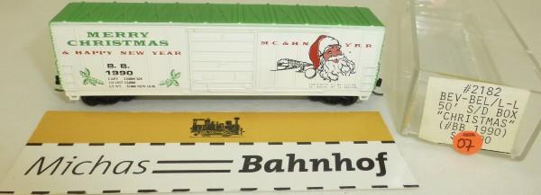 MC&HNYRR ChristmasBB 1990 50' S/D Box Life Like 2182 N 1:160 #=07 å