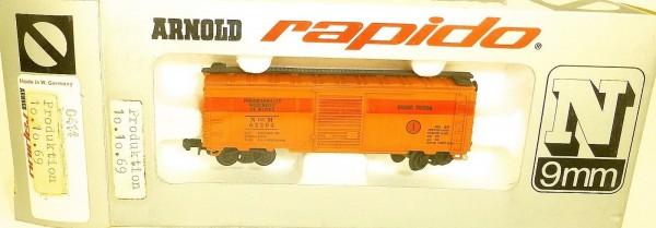 Carro Tienda Güterwagen 10.10.1969 ARNOLD rapido 0414 N 1:160 OVP HU3 å *