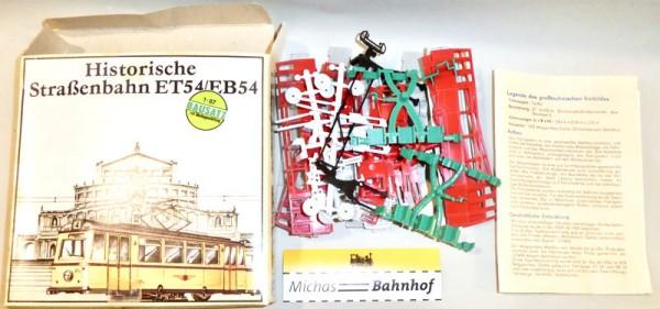 ET54 EB54 Historische Straßenbahn rot Bausatz ungebaut PREFO DDR H0 1:87 OVP å
