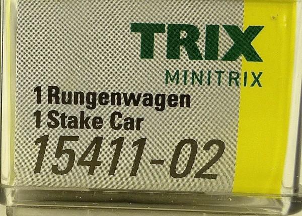 Minitrix 15411-02 Rungenwagen Stake Car TRIX N 1:160 NEU OVP HS3 å *