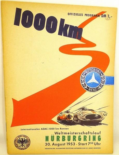 30. August 1953 ADAC 1000 km WM Mercedes Benz Nürburgring PROGRAMMHEFT VII03 å å