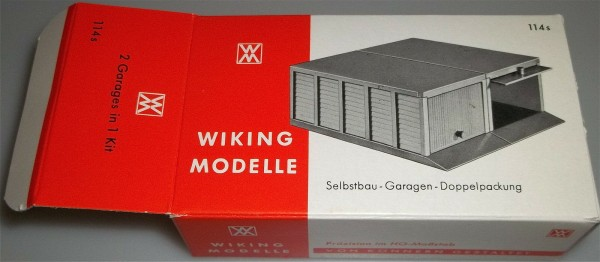 114S Selbstbau Garagen Doppelpackung Wiking Karton leer å *