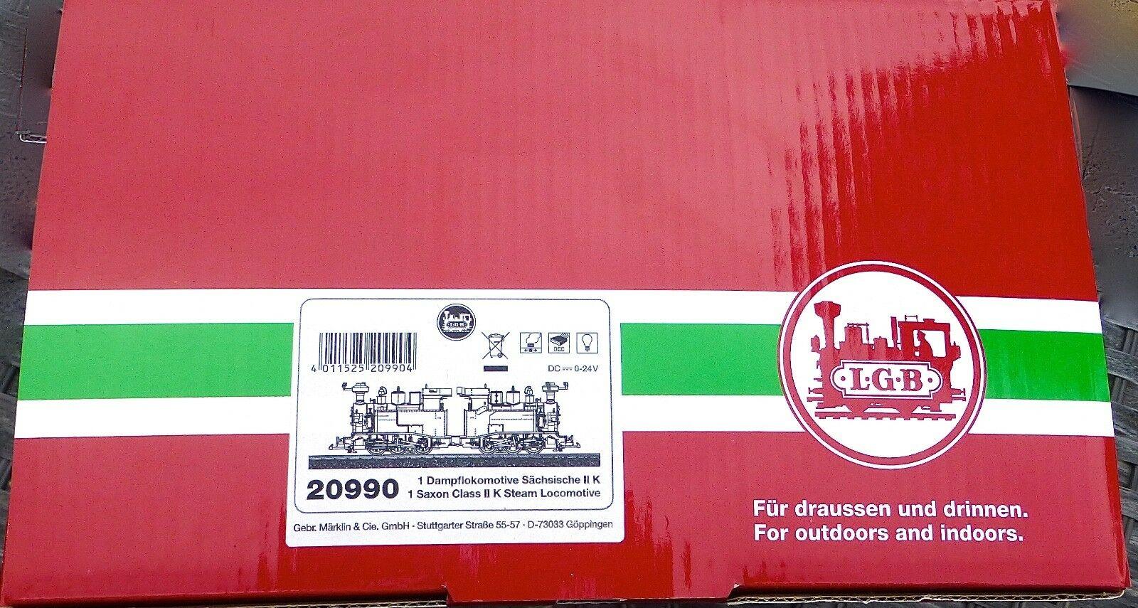 LGB 20990 Lehmann Sächsische II K Doppeltraktion Dampflok DSS Dampf NEU OVP µ *