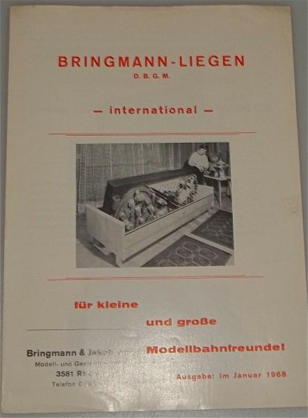 Bringmann-Liegen Modellbahnanlage Ausgabe Januar 1968 å