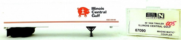 Micro Trains Line 67090 Illinois Central Gulf 45' Van Trailer 1:160 OVP #i005 å