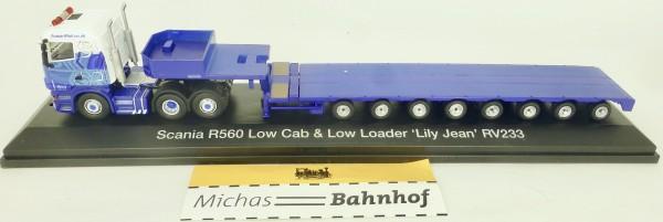 Scania R560 Low Cab Low Loader Lily Jean RV233 Atlas 4664102 H0 1:76 HA3 µ *