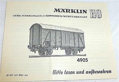 4905 Anleitung Märklin 68 495 AN 0764 ma