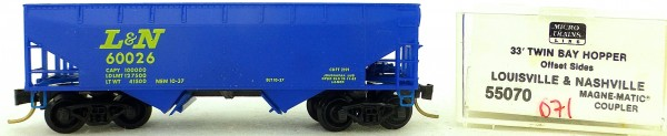 Micro Trains Line 55070 Louisville Nashville 33' Twin Bay Hopper OVP 1:160 #K071 å