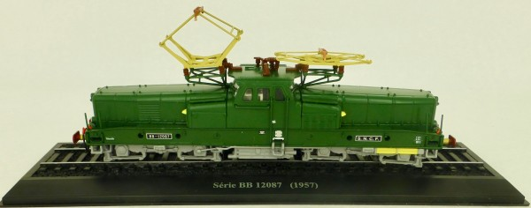 Elektrolok BB 12087 SNCF H0 1:87 Standmodell auf Sockel Atlas 7153120 LIH µ
