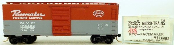Micro Trains Line 20242 NYC Pacemaker 174482 40' St. Boxcar 1:160 OVP #H108 å