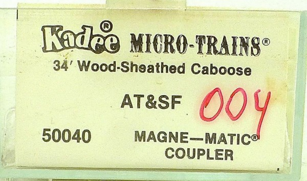 Micro Trains Line 50040 AT&SF 1289 34' WOOD Sheathed CABOOSE 1:160 OVP 004H å *