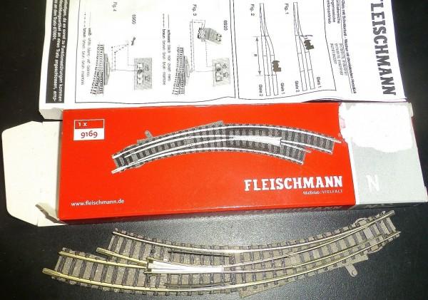 Bogenweiche Rechts Handbetrieb Fleischmann 9169 N 1:160 OVP HR4 µ *