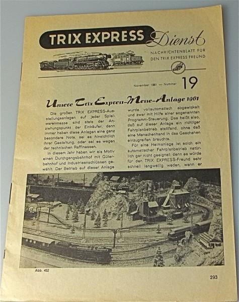 Trix Express Dienst Ausgabe 19 August 1961 å *