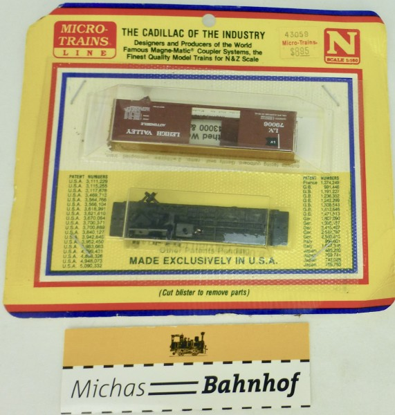 BLISTER KIT Lehigh Valley 79006 Boxcar Bausatz Micro Trains 43059 N 1:160 HC6 å
