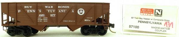Micro Trains Line 57100 PRR 220877 33' Twin Bay Hopper 1:160 OVP #i131 å