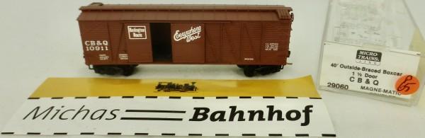 CB & Q 10911 40' Outside Braced Box Car Micro Trains Line 29060 1:160 P65 å