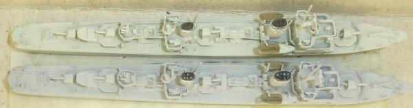2 Torpedoboote Neptun1067 Z22 + T22 Schiffsmodell 1:1250 SHP552 å *