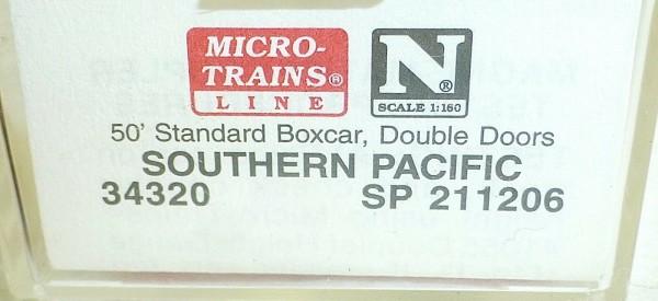 Micro-Trains Line 34320 Southern Pacific 50' Standard Box Car N 1:160 A å *