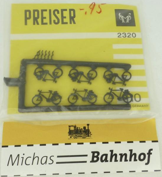 Fahrräder 1960er Jahre PREISER 2320 H0 1:87 OVP Blister å