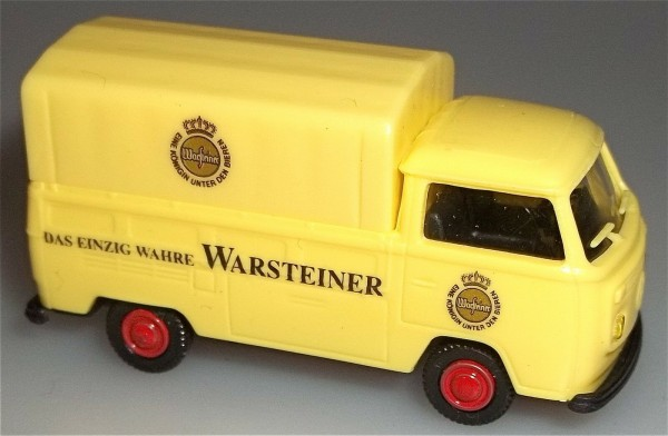 Warsteiner VW T2 BUS Pritsche Plane Lagerfund NEU 1:87 å