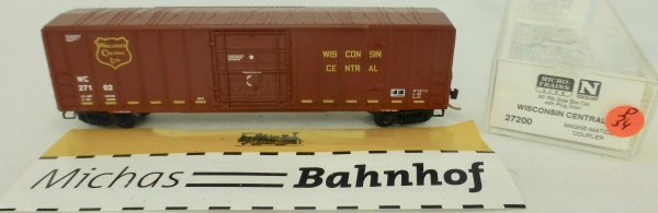 Wisconsin Central 50' Rib Side Boxcar 27102 Micro Trains Line 27200 1:160 P34 å
