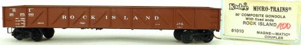 Micro Trains Line 62010 Rock Island 187500 50' Gondola Fix Ends 1:160 OVP #i100 å