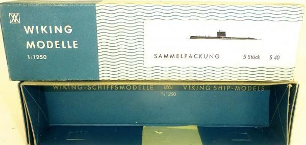 Karton leer Wiking Schiffe Modelle 1:1250 S40 å *